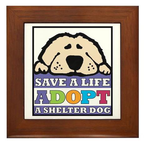 Save a Life Framed Tile