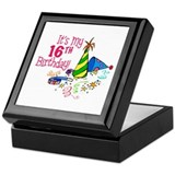 Funny sweet 16 gifts Square Keepsake Boxes