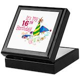 Funny sweet 16 gifts Keepsake Boxes