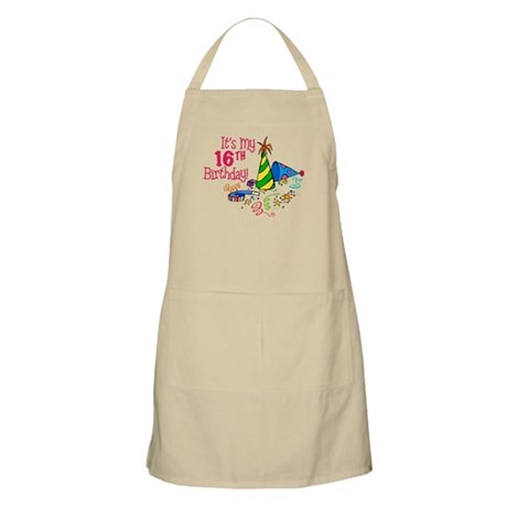It's My 16th Birthday (Party Hats) BBQ Apron
