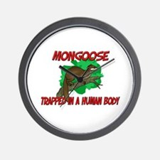 Mongoose trapped in a human body Wall Clock