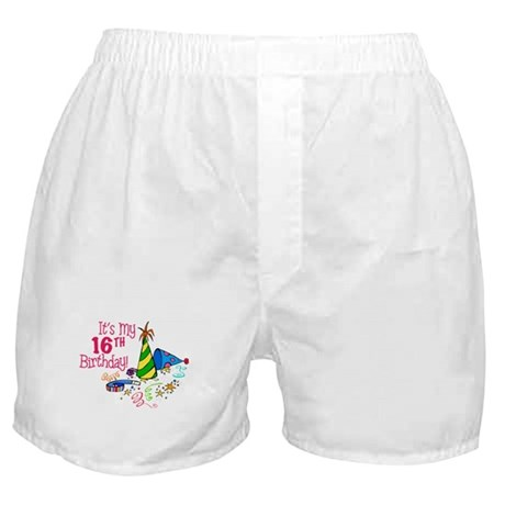 It's My 16th Birthday (Party Hats) Boxer Shorts