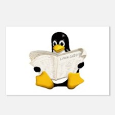Tux - Linux Penguin Postcards (Package of 8)
