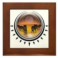 Wolf Orb Orange Framed Tile