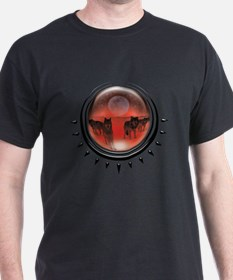 Wolf Orb Red T-Shirt