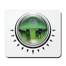 Wolf Orb Green Mousepad