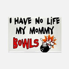 No Life Mommy Bowls Rectangle Magnet