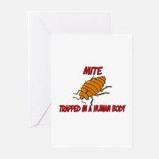 Mite trapped in a human body Greeting Cards (Pk of