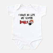 No Life Sister Bowls Infant Bodysuit