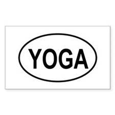 European Oval Yoga Rectangle Decal