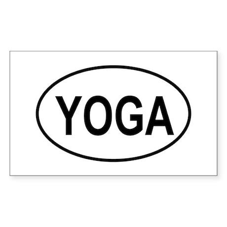European Oval Yoga Rectangle Sticker