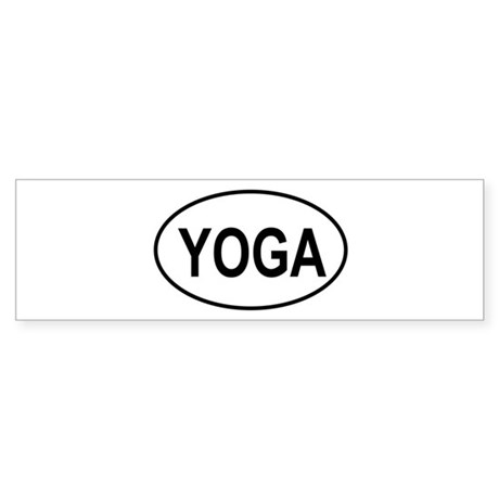 European Oval Yoga Bumper Sticker