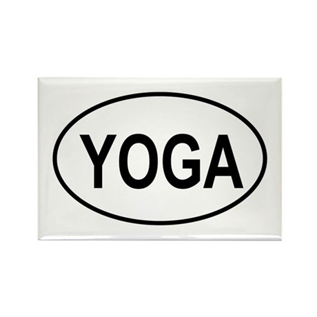 European Oval Yoga Rectangle Magnet (100 pack)