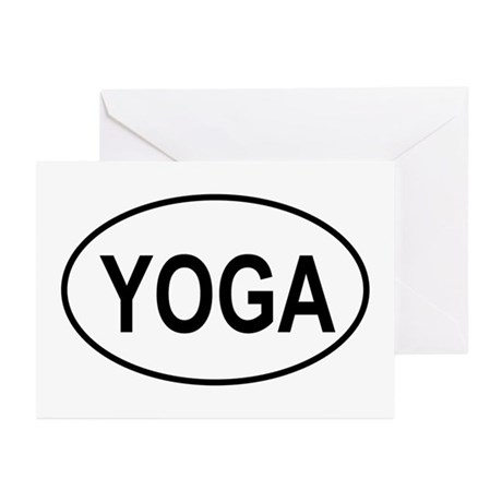 European Oval Yoga Greeting Cards (Pk of 10)