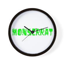 Monserrat Faded (Green) Wall Clock