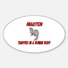 Marten trapped in a human body Oval Decal