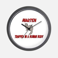 Marten trapped in a human body Wall Clock