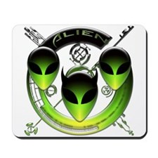 Tri-Alien Design 3 Mousepad