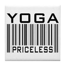 Yoga Priceless Bar Code Tile Coaster