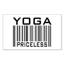 Yoga Priceless Bar Code Rectangle Decal