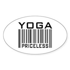 Yoga Priceless Bar Code Oval Decal