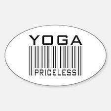 Yoga Priceless Bar Code Oval Decal