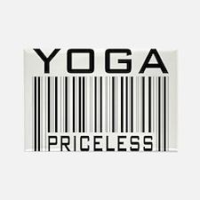 Yoga Priceless Bar Code Rectangle Magnet