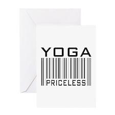 Yoga Priceless Bar Code Greeting Card