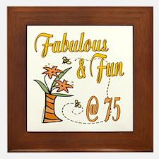 Floral 75th Framed Tile
