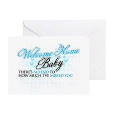 Welcome Home Baby Greeting Card