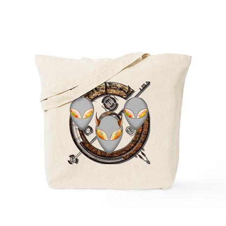 Tri-Alien Design 6 Tote Bag
