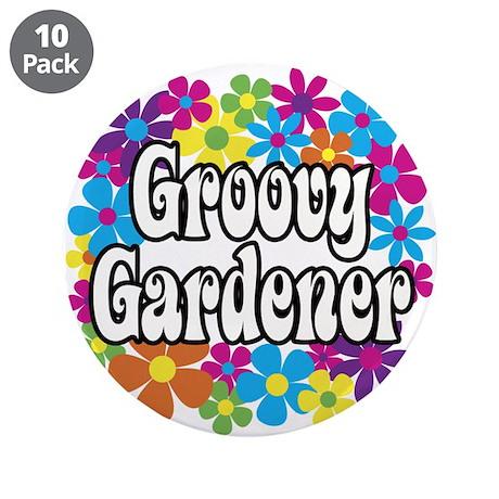 """Groovy Gardener 3.5"""" Button (10 pack)"""