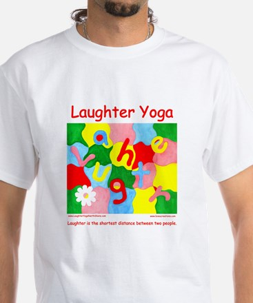 Laughter Yoga SHORTEST DISTANCE Unisex T-Shirt