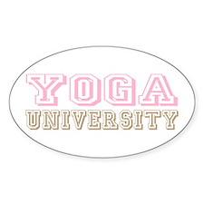 Pink Yoga University Oval Decal