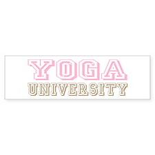 Pink Yoga University Bumper Bumper Sticker