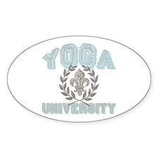 Yoga University Fleur De Lis Oval Decal