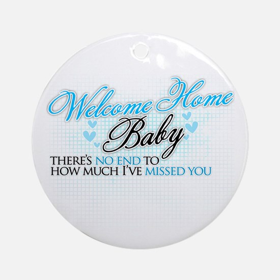 Welcome Home Baby Ornament (Round)