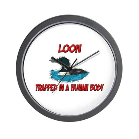 Loon trapped in a human body Wall Clock
