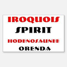IROQUOIS SPIRIT Rectangle Decal