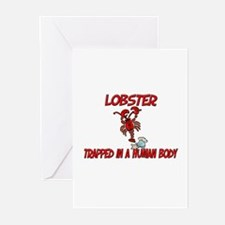 Lobster trapped in a human body Greeting Cards (Pk