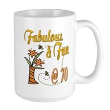 Floral 70th Mug
