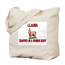 Llama trapped in a human body Tote Bag