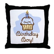 Birthday Boy Cupcake Throw Pillow