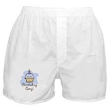 Birthday Boy Cupcake Boxer Shorts