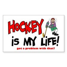 Hockey is my life -player Rectangle Decal