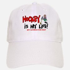 Hockey is my life -player Baseball Baseball Cap