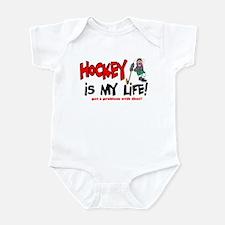 Hockey is my life -player Infant Bodysuit