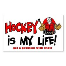 Hockey is my life -goalie Rectangle Decal