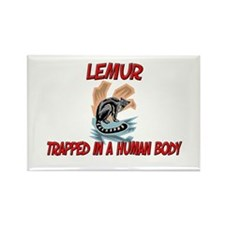 Lemur trapped in a human body Rectangle Magnet