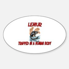 Lemur trapped in a human body Oval Decal